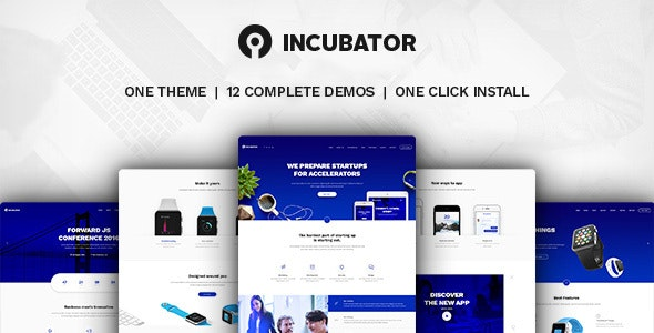 Incubator WordPress Theme For Business