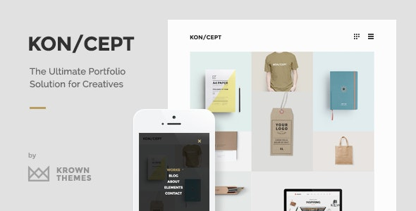 Koncept WordPress Themes for Artists