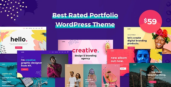Leedo best WordPress themes for Artists